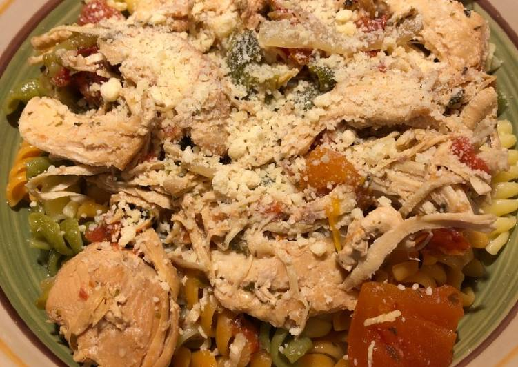 Recipe of Ultimate Crockpot Shredded Italian Chicken 🐔