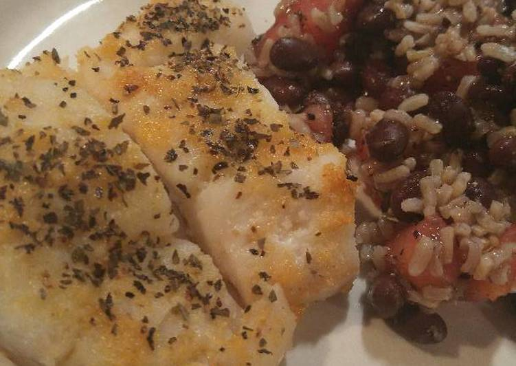 Buttered Garlic Cod Filets