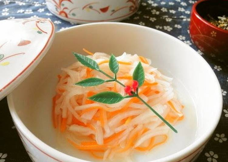 Perfect for New Year's Red & White Namasu Salad - Laurie G Edwards