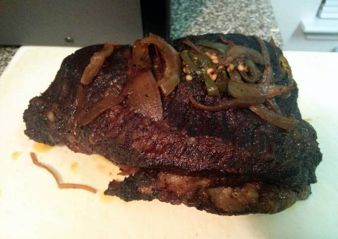 Awesome oven cooked brisket with coffee rub