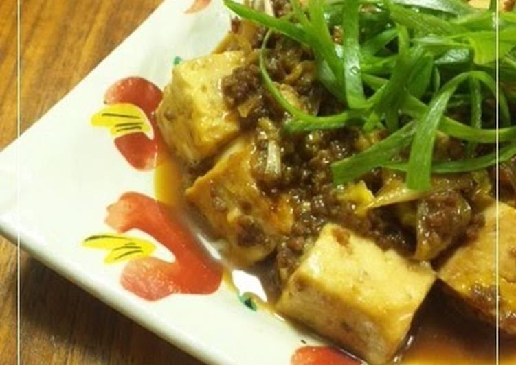 Steps to Make Homemade Easy! Healthy! Sukiyaki-style Ground Meat and Tofu
