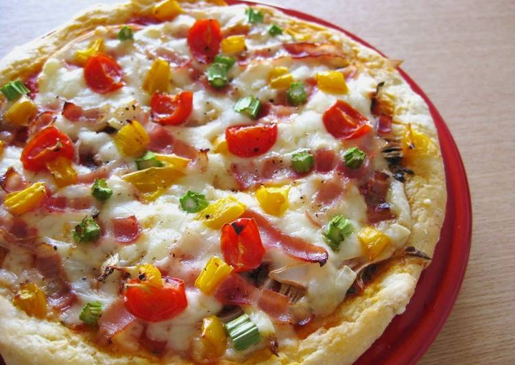 Easy Pizza with Okara Soy Pulp - Laurie G Edwards