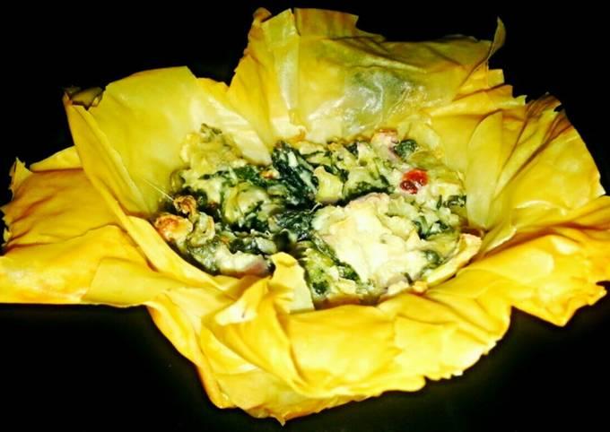 Mike's Garlic Artichoke Phyllo Blossoms