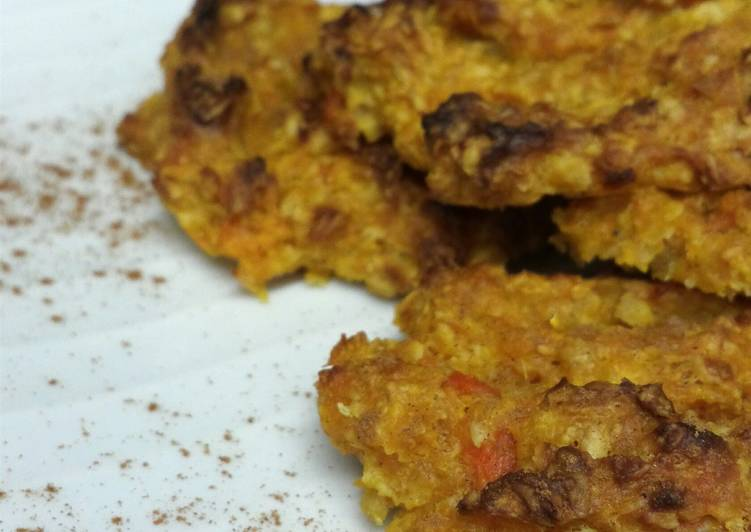 Healthy carrot -orange cookies