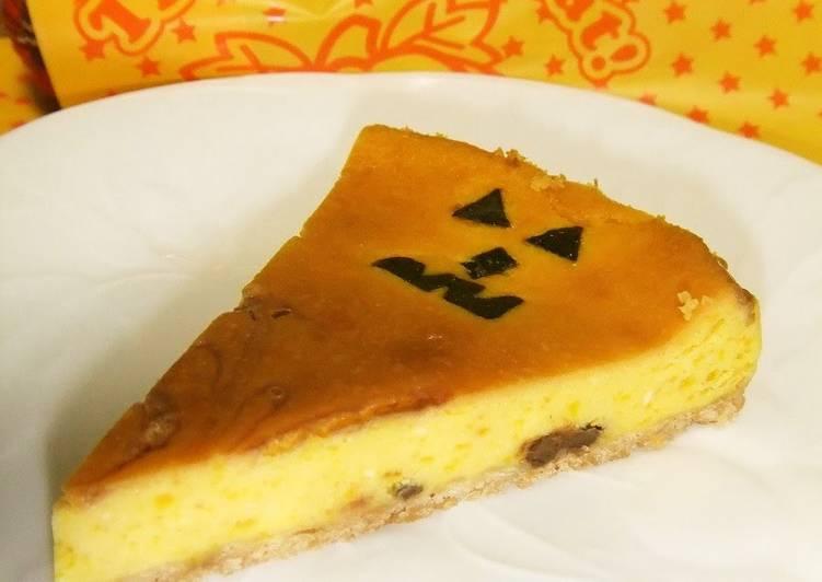 Kabocha Squash Cheesecake, Halloween-style