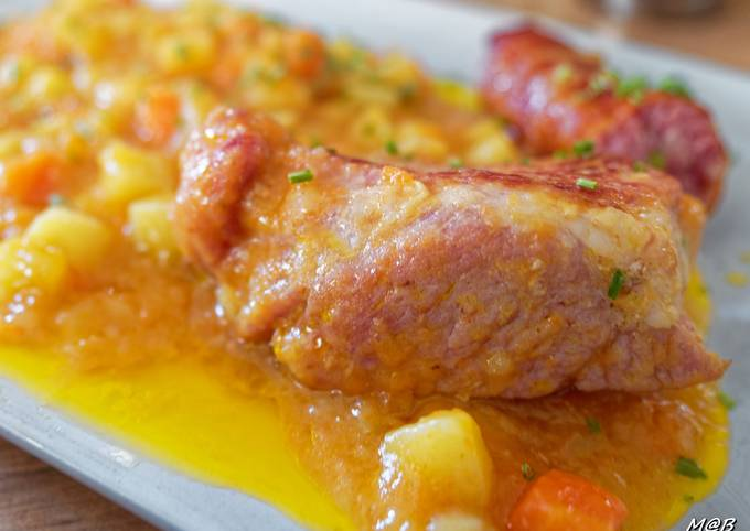 Mijoté de porc carottes et pommes de terre au Cook Expert