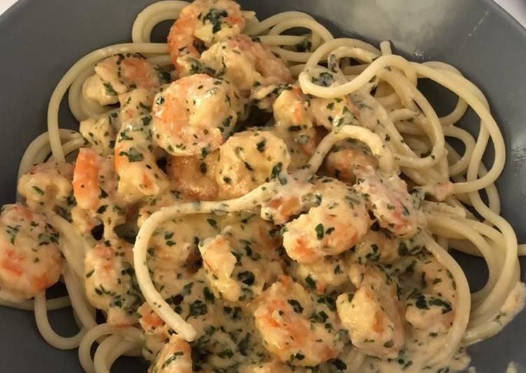 Comment Préparer Des Spaghettis frais aux crevettes 🦐