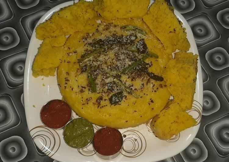 Recipe: Perfect Bread dhokla