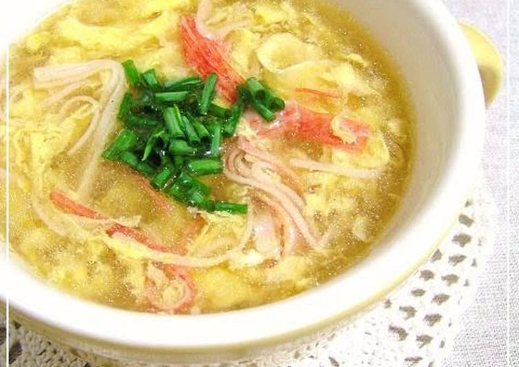 Just Like Kanitama (Japanese-Style Crab Omelette) Fluffy Egg Drop Soup