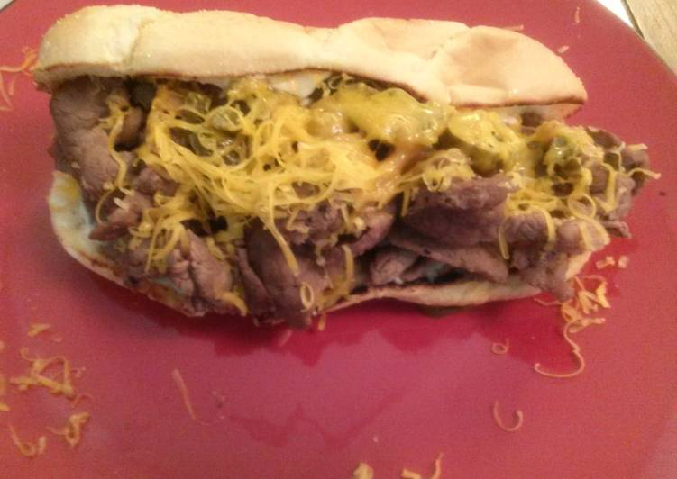 Simple Way to Prepare Homemade Philly cheese steak