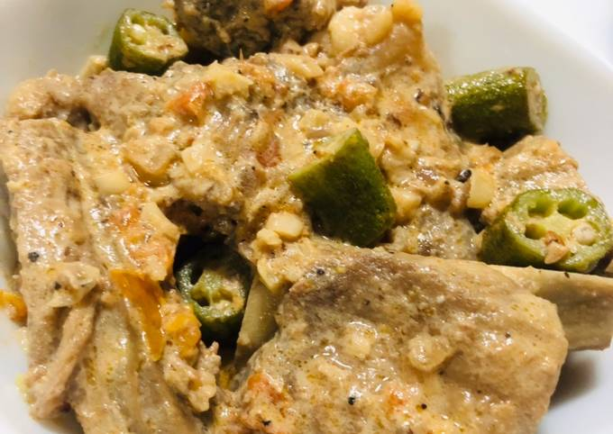 Easy Pork Ribs in Coconut Milk with Shrimp Paste >> Ginataang Binagoongan Quick Cook