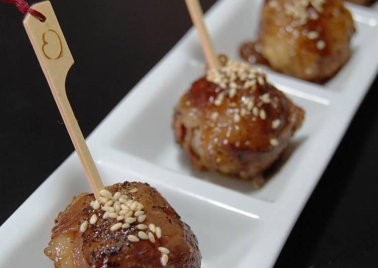 Easiest Way to Prepare Appetizing Meat-Wrapped Temari Pinchos