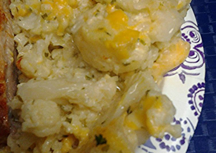 Au gratin cauliflower