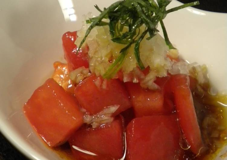 Recipe: Yummy A Touch of Summer: Japanese-style Tomato Salad