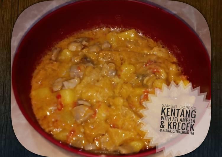 Sambel goreng kentang with ati ampela & krecek
