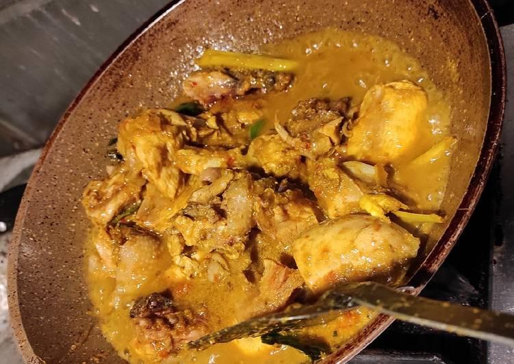 Resep Gulai Ayam Santan Pedas, Lezat