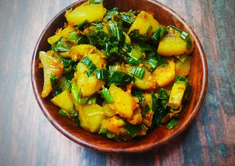 Green onion bhaji