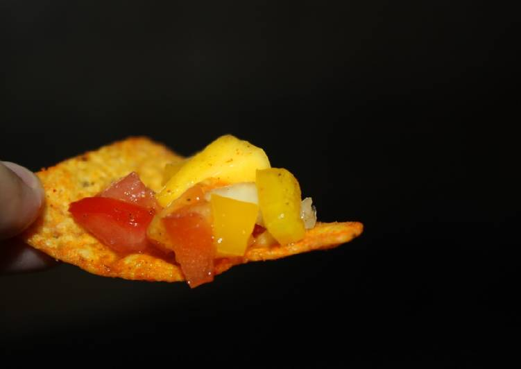 How to Make Super Quick Homemade Mango Salsa snack