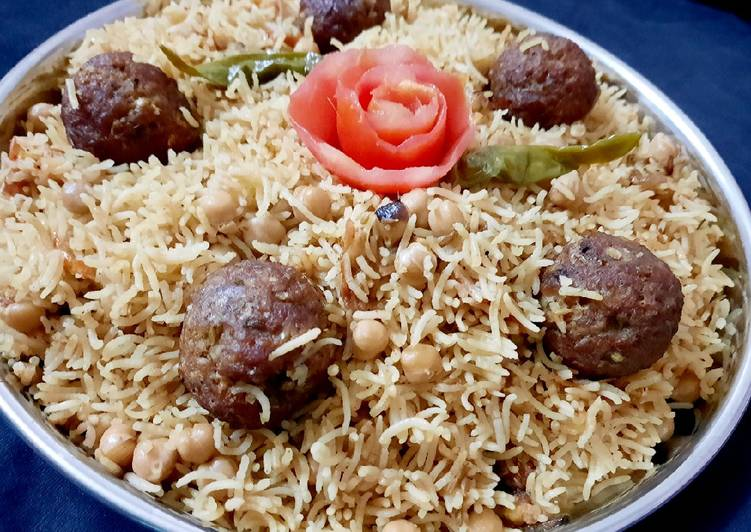 Easiest Way to Cook Delicious Beef kofta and chana pulao