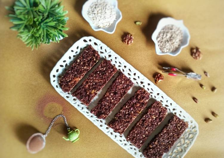 Millet Chocolate Granola Bars