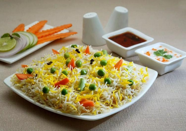 Vegetable Biryani Recipe Card