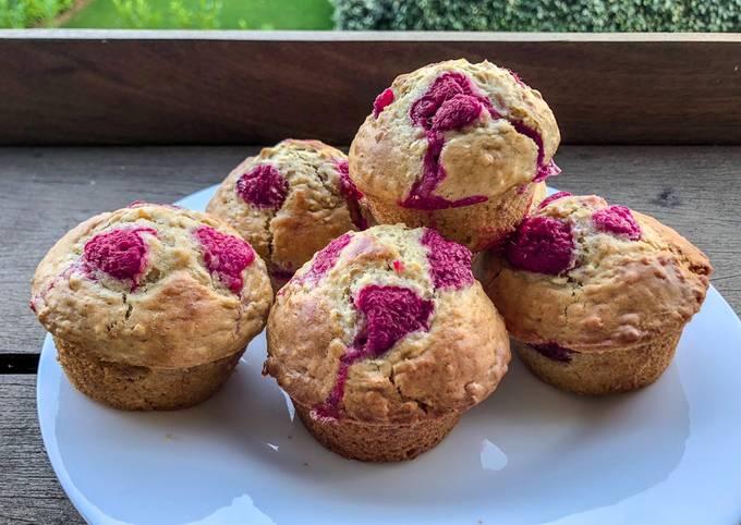 Muffins light aux framboises