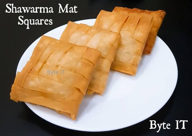 Shawarma mat squares