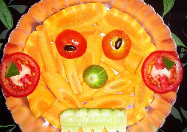 Pooky halloween, veg salad 🥗