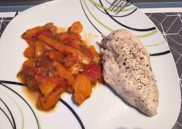 Sauce poivrons tomates
