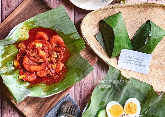 Nasi lemak sambal udang petai #phopbylinimohd #batch18