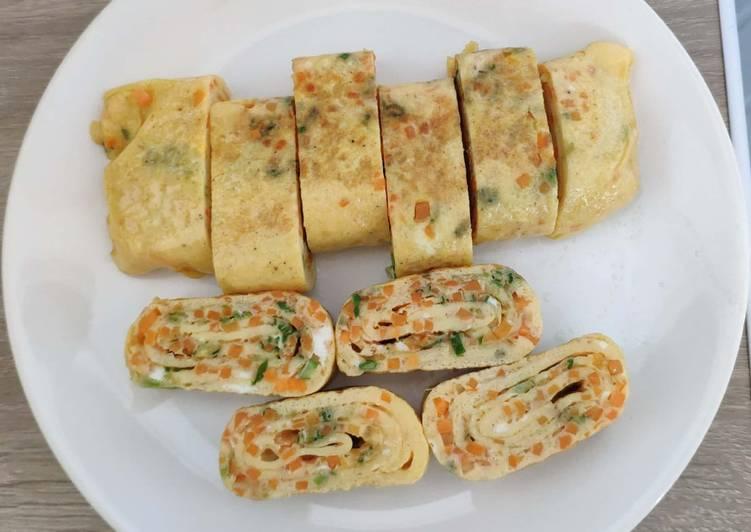 Simple Korean egg roll