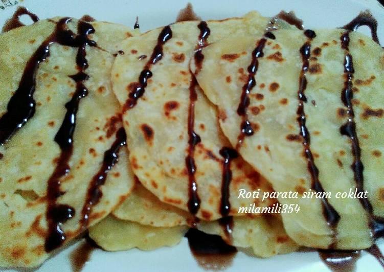 Roti parata siram coklat (recook)