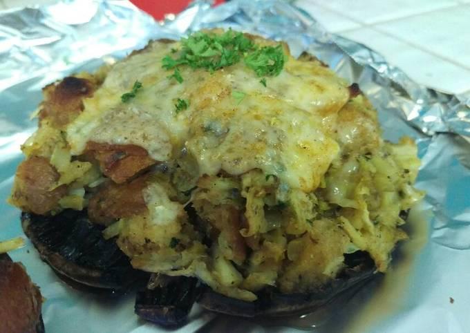 Crab stuffed Portabellas - version 1