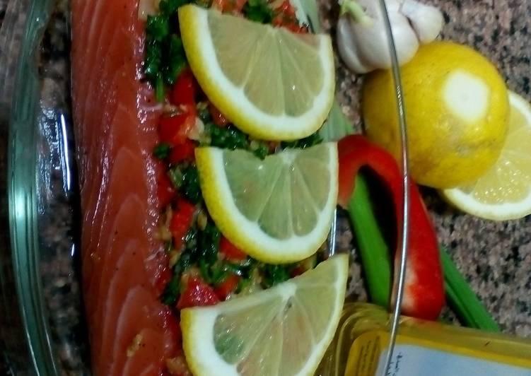 Steam salmon