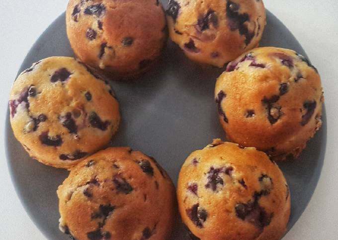 Muffins myrtilles sauvages