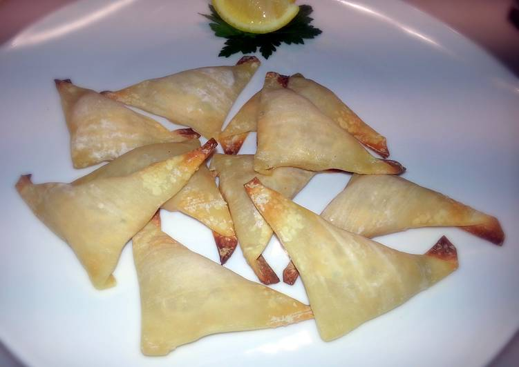 Recipe: Yummy Smoked Salmon Wontons (Baked)