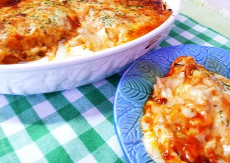 Easiest Way to Make Appetizing Easy Gooey Lasagna Made with Gyoza Skins