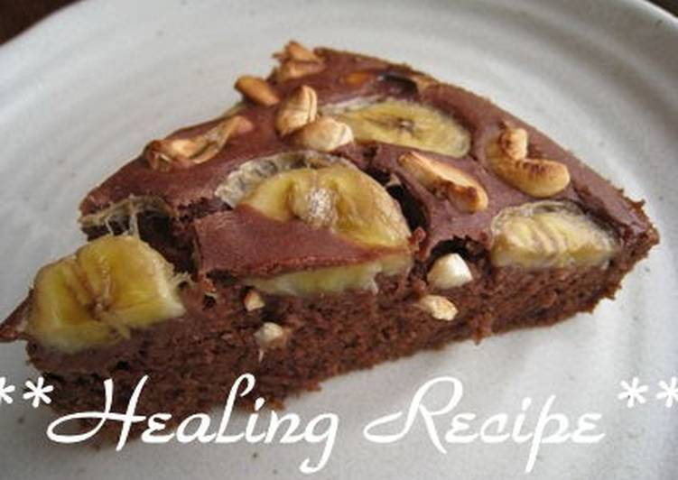 Banana Nut Cocoa Cake Made with Whole Wheat Flour