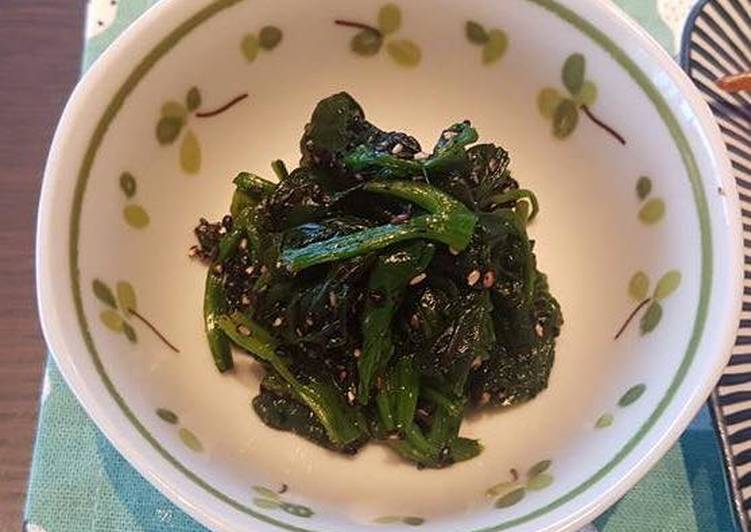 Recipe: Tasty Simple spinach salad with Japanese twist
