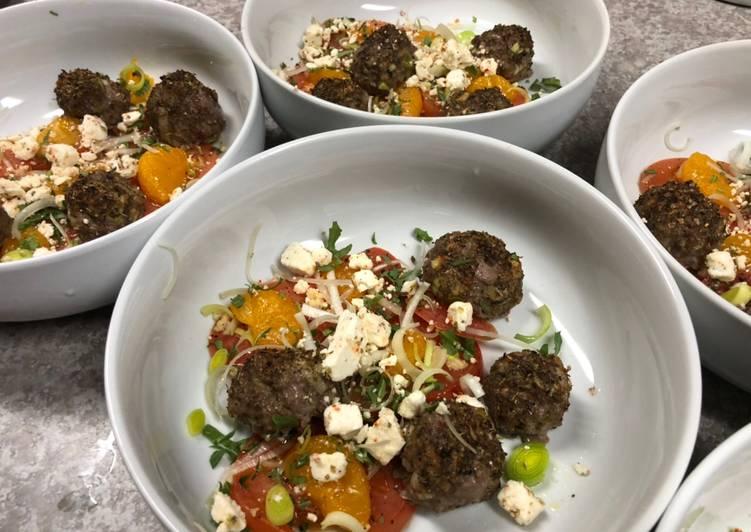 25 Minute Steps to Prepare Homemade Mini Meatballs w/ Mandarin Orange Garlic Tomatoes