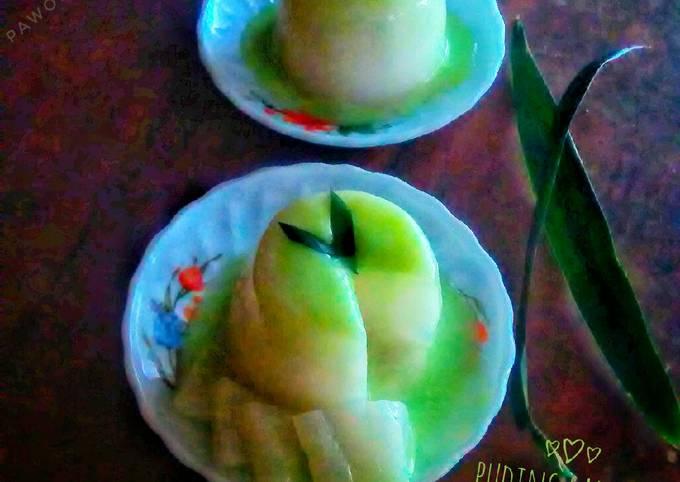 Puding santan ~ vla susu melon