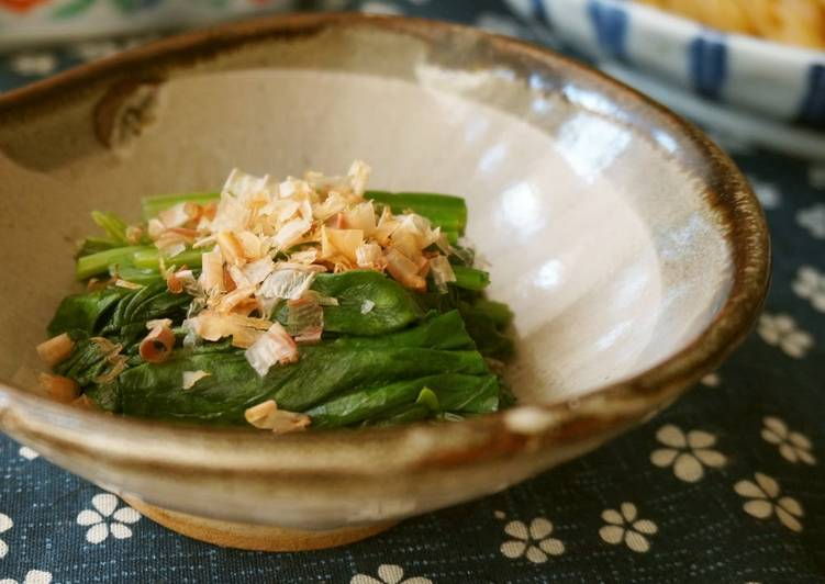Spinach Simmered in Bonito-Flavored Sauce