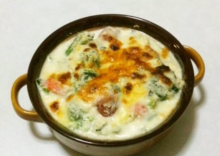Vegetables au Gratin with Okara Béchamel Sauce - Laurie G Edwards