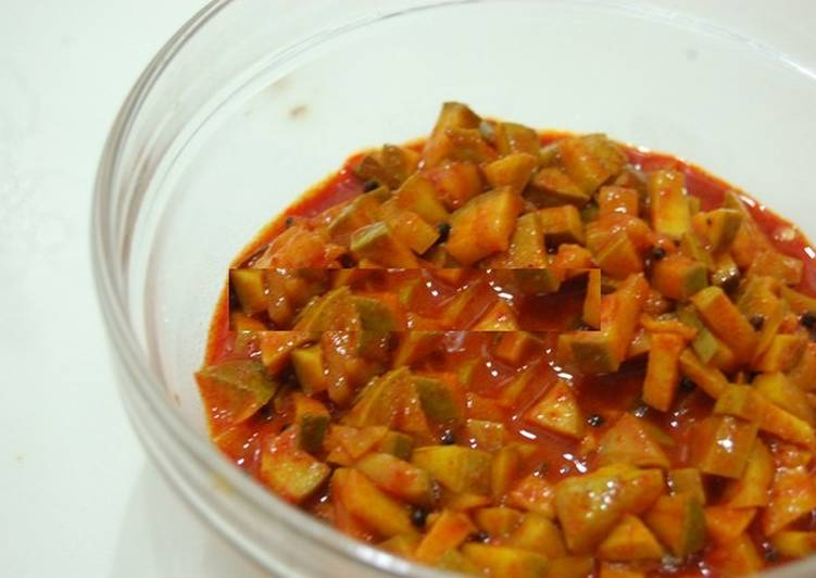 25 Minute Steps to Prepare Quick Mango Pickle Kerala Style