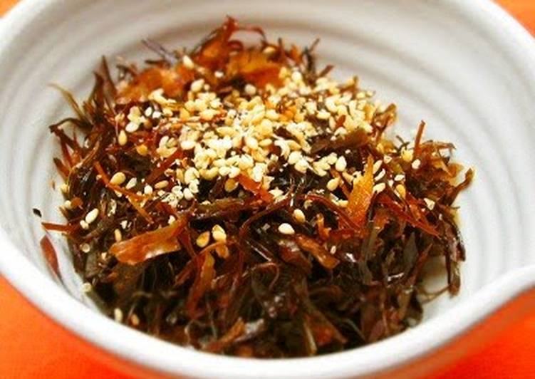 Easiest Way to Prepare Quick Dashi Kombu Side Dish - Enjoy With Rice or as a Snack