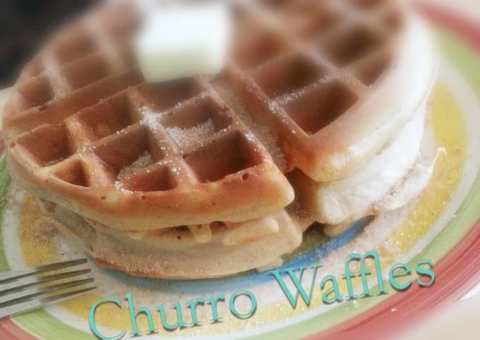 Easy Belgian Churro Waffles