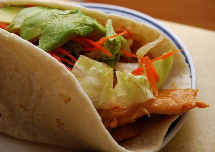 Mango Glazed Chicken Tacos