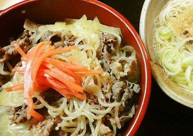 5 Minute Simple Way to Prepare Royal Healthy Gyuudon (Beef & Rice Bowl) with Shirataki Noodles
