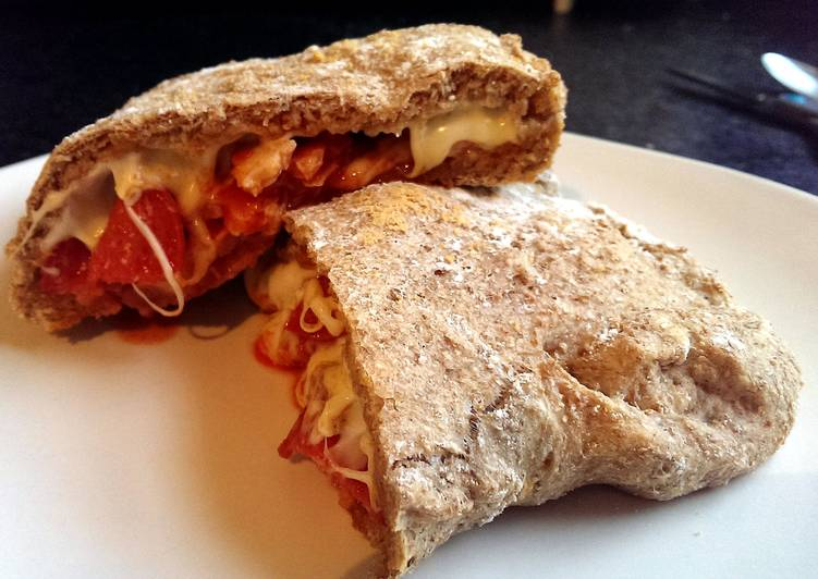 Sophie's wholemeal tomato dough meat feast pizza pocket