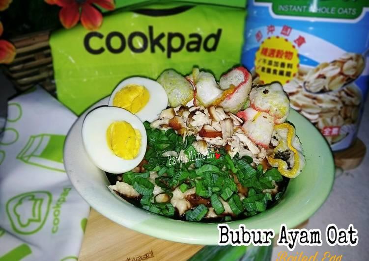 Bubur Ayam Oat Boiled Egg